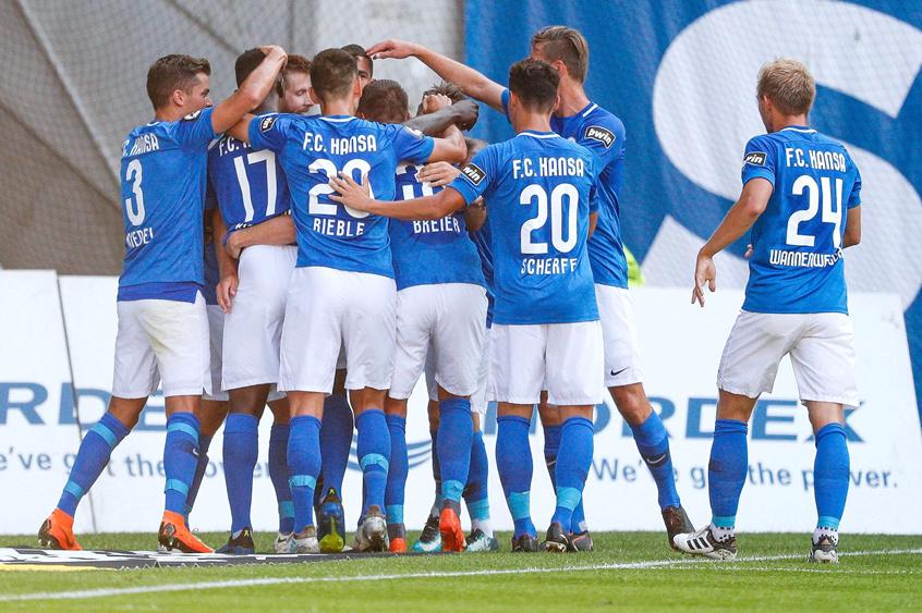 Landespokal: Hansa zweistellig – HFC gewinnt Stadtderby ...