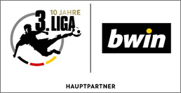 Das Partnerlogo der 3. Liga und bwin.